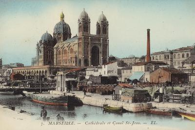 Postcard Depicting the Cathedral and Canal Saint-Jean--Photographic Print