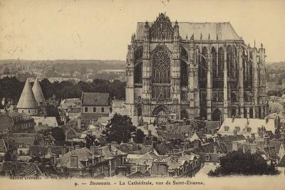 Postcard Depicting the Cathedral of Saint Peter of Beauvais--Photographic Print