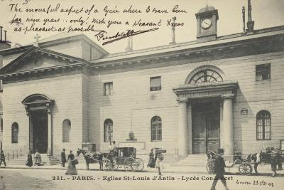 Postcard Depicting the Eglise St-Louis D'Antin--Photographic Print