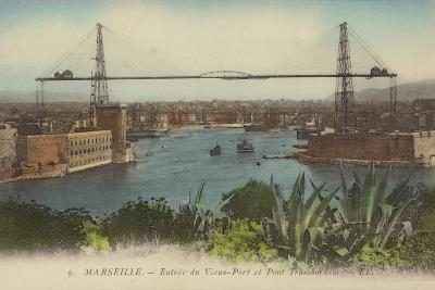 Postcard Depicting the Entrance to the Port of Marseille--Photographic Print