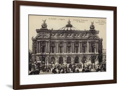 Postcard Depicting the Facade of the Palais Garnier--Framed Photographic Print