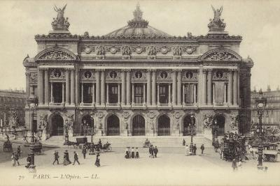 Postcard Depicting the Facade of the Palais Garnier--Photographic Print