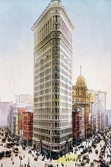 Postcard Depicting the Flatiron Building, New York City--Giclee Print
