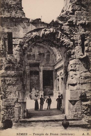 Postcard Depicting the Interior of the Temple De Diane--Photographic Print