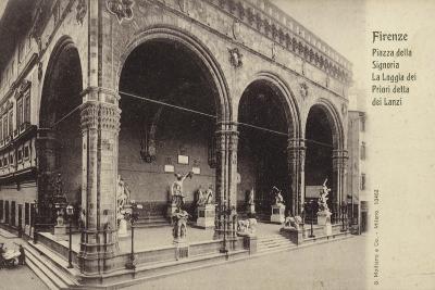 Postcard Depicting the Loggia Dei Lanzi--Photographic Print
