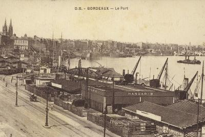 Postcard Depicting the Port in Bordeaux--Photographic Print
