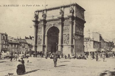 Postcard Depicting the Porte D'Aix--Photographic Print