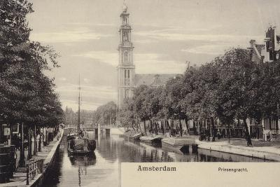 Postcard Depicting the Prinsengracht--Photographic Print