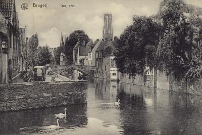 Postcard Depicting the Quai Vert--Photographic Print