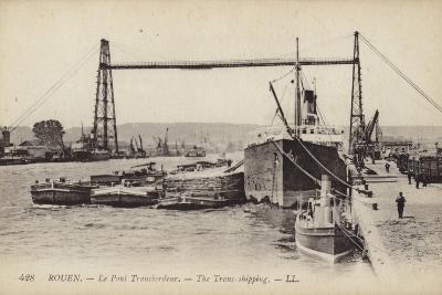 Postcard Depicting the Rouen Transporter Bridge--Photographic Print