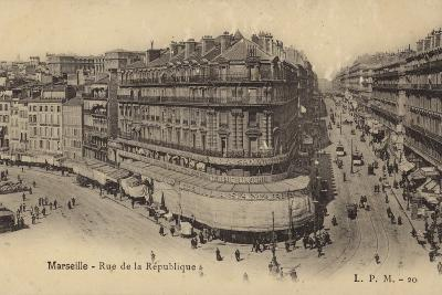 Postcard Depicting the Rue De La Republique--Photographic Print