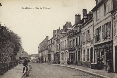 Postcard Depicting the Rue Du Tribunal--Photographic Print