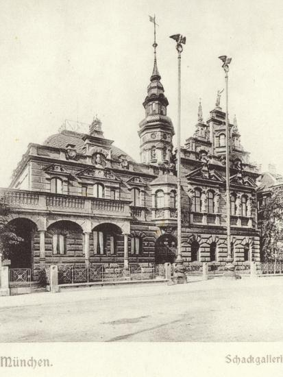 Postcard Depicting the Schackgalerie--Photographic Print