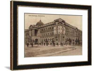 Postcard Depicting the Stock Exchange in Johannesburg--Framed Photographic Print