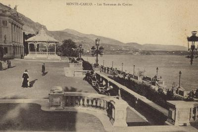 Postcard Depicting the Terrace of the Monte Carlo Casino--Photographic Print