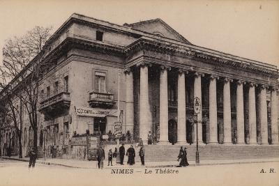 Postcard Depicting the Theatre in Nimes--Photographic Print