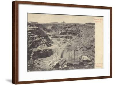 Postcard Depicting the Wesselton Mine--Framed Photographic Print