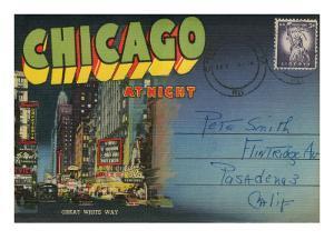 Postcard Folder, Chicago at Night