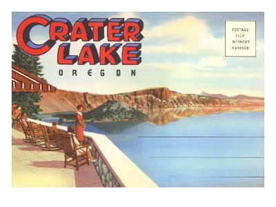 Postcard Folder, Greetings from Crater Lake, Oregon--Art Print