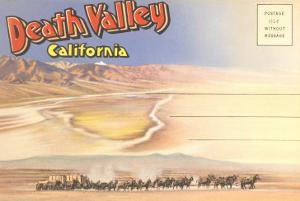 Postcard Folder of Death Valley, California
