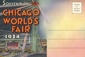 Postcard Folder, Souvenir of Chicago World's Fair