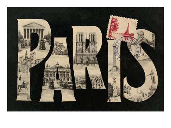 Postcard from Paris-Hugo Wild-Art Print
