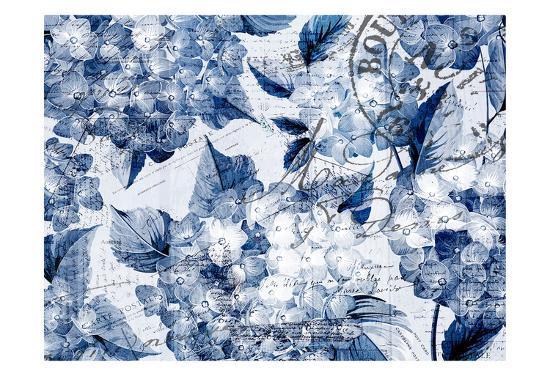 Postcard Hydrangea 2-Kimberly Allen-Art Print