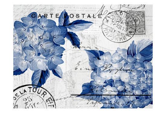 Postcard Hydrangea 4-Kimberly Allen-Art Print