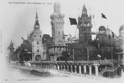 Postcard Showing the Foreign Pavilions on the Rue Des Nations at the Exposition Universelle of 1900--Giclee Print