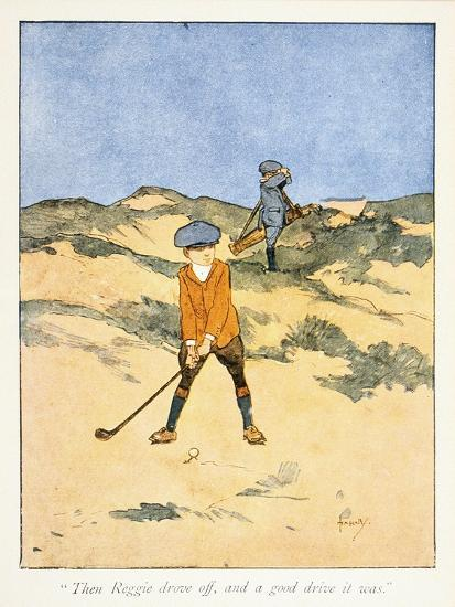 Postcard with golfing theme, c1910-Unknown-Giclee Print