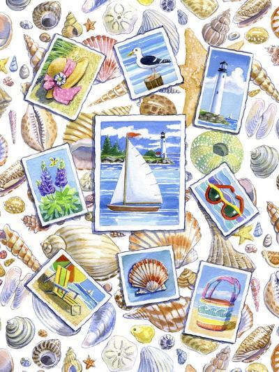 Postcards And Shells-Geraldine Aikman-Giclee Print