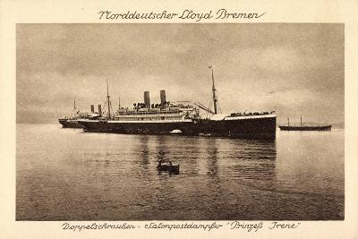 Postdampfer Prinzeß Irene,Norddeutscher Lloyd Bremen--Giclee Print