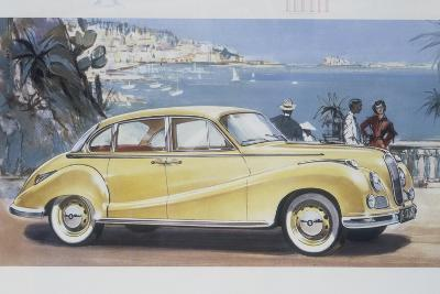 Poster Advertising a Bmw 502 Car, 1957--Giclee Print