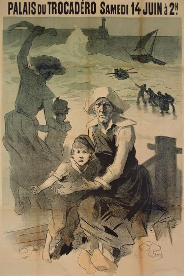 Poster Advertising a Charity Gala in Aid of the Families of Shipwrecked Sailors at the Palais Du Tr-Jules Ch?ret-Giclee Print