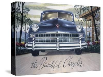 Poster Advertising a Chrysler, 1946