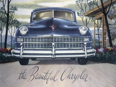 Poster Advertising a Chrysler, 1946--Giclee Print