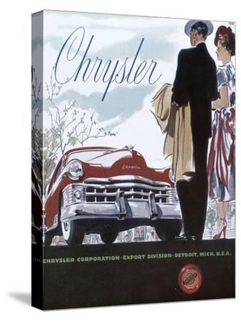 Poster Advertising a Chrysler, 1950