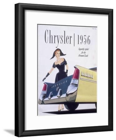 Poster Advertising a Chrysler, 1956