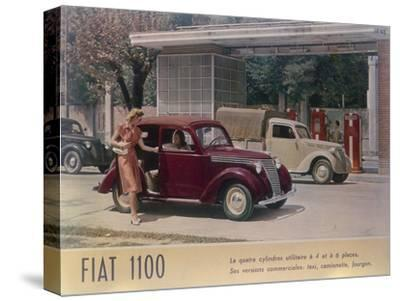Poster Advertising a Fiat 1100, 1940