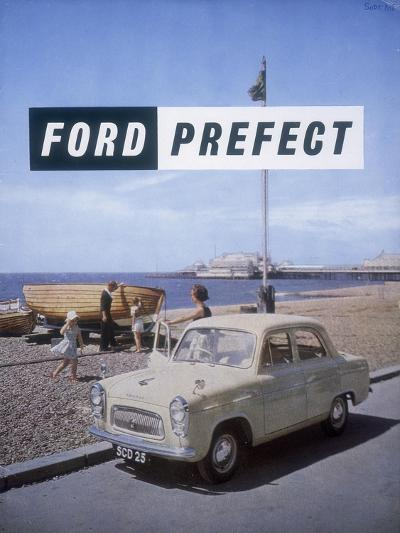 Poster Advertising a Ford Prefect Car, 1956--Giclee Print