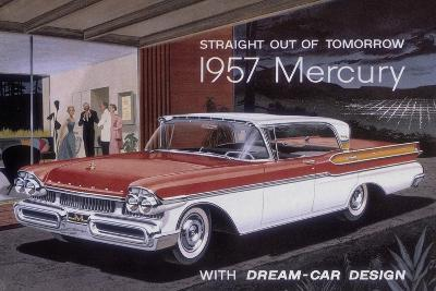Poster Advertising a Mercury Car, 1957--Giclee Print