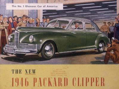 Poster Advertising a Packard Clipper, 1946--Giclee Print