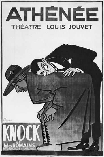 Poster Advertising a Performance of 'Knock or the Triumph of Medicine'-Bernard Becan-Giclee Print