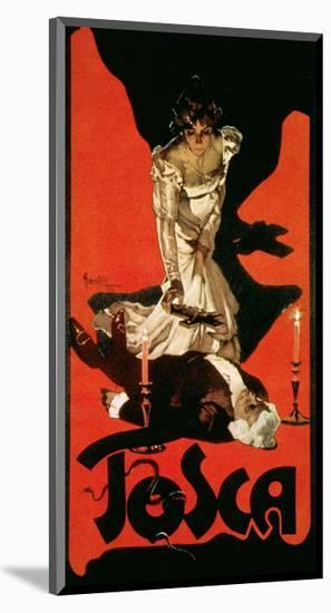 Poster Advertising a Performance of Tosca, 1899-Adolfo Hohenstein-Mounted Premium Giclee Print