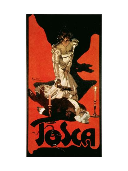 Poster Advertising a Performance of Tosca, 1899-Adolfo Hohenstein-Giclee Print