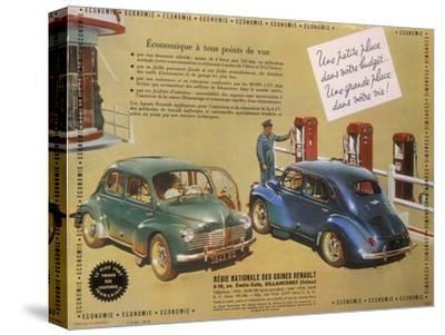 Poster Advertising a Renault 4Cv, 1949