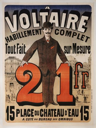 Poster Advertising 'A Voltaire', C.1877-Jules Ch?ret-Giclee Print