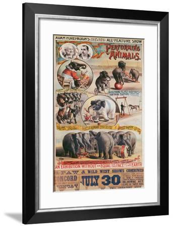 Poster Advertising Adam Forepaugh's 'New and Greatest All-Feature Show'--Framed Giclee Print