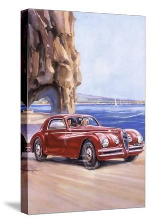 Poster Advertising an Alfa Romeo 6C 2500 Super Sports, 1948