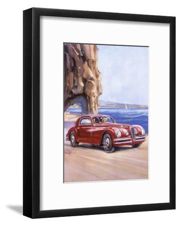 Poster Advertising an Alfa Romeo 6C 2500 Super Sports, 1948